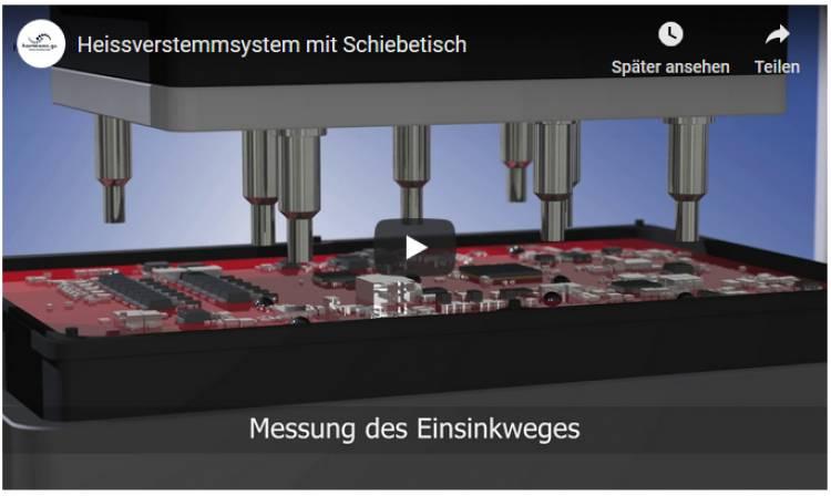 Video Heissverstemmsystem mit Schiebetisch